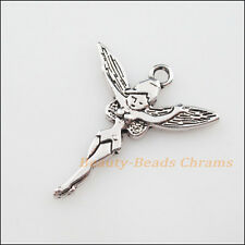 5Pcs Tibetan Silver Tone Dancing Angel Wings Charms Pendants 24.5x29mm