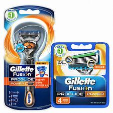 Gillette Fusion Proglide Power Razor with Flexball + Refill Cartridge 4 Count