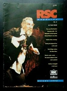 RSC Royal Shakespeare Company magazine, Autumn 1990 No.2 Alex Jennings