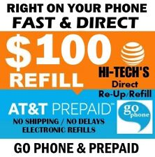 $100 At&T Go phone Prepaid Refill Fast & Direct > Us Dealer > Trusted