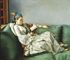 Portrait of Maria Adelaide of France Liotard Mode Königin Kleid B A3 02513