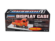 DISPLAY SHOW CASE WITH CHROME BASE FOR 1/24 1/25 MODEL CARS BY LINDBERG 14101