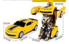 RC Radio Remote Control Transformer Car Deform Robot 2.4Ghz Bumblebee Yellow