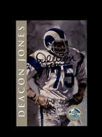 Deacon Jones SGC Nm Mt 8 1998 HOF Signature Series Los Angeles Rams Autograph