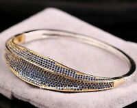 Turkish Handmade 925 Sterling Silver Sapphire Blue stone Ladies Woman Bracelet
