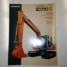 Hitachi Super EX110V Hydraulic Excavator Sales Literature & specifications.
