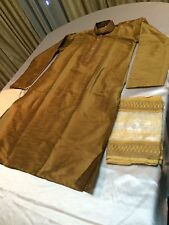 "36"" Small Sherwani Suit Indian Bollywood Mens Traditional Kurtha Bronze #MM4"