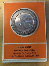 Sparks Nugget Proof Dollar Gaming Token, Franklin Mint, 1969 (Box2)
