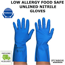 RUBBER GLOVES.LOW ALLERGY.NITRILE,UNLINED,WASHING UP,CLEANING,FOOD,LATEX FREE