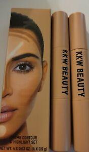 KKW Beauty Kim Kardashian West Crème Contour & Highlight Set MediumAuthentic