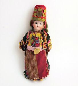 "Antique Johann Walther & Sohn Bisque Head Composition Doll Original Clothing 8"""
