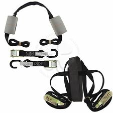 Black Motorcycle Cam Buckle Tire Tie Down Strap Assembly Harnesses Transport Kit
