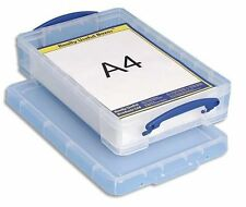 Really Useful 4L Box Ideal for A4 Paper Card Storage Colour Clear 4 l litre