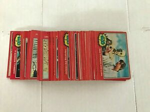1977 Topps Star Wars  Complete 66 Red Trading Card Set - 2nd Series -- NICE