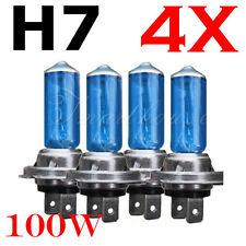 4 Pcs H7 6000K Xenon Gas Halogen Headlight White Light Lamp Bulbs 100W 12V