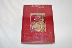 Marquis Waterford Snowman Ornament 2010 Gold Tassel New Open Box 153787 Card