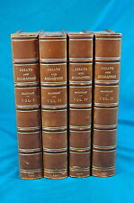 The Works of Lord Macaulay Essays and Biographies 4 vols 1913 fine bindings