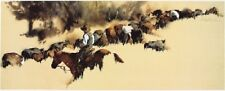 Heading Up French Glenn By William Mathews Western Print 37x16