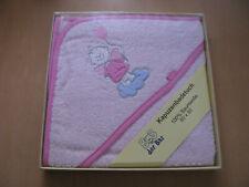 Kapuzenbadetuch Bob der Bär rosa 80 x 80 cm 100% Baumwolle Neu & OVP