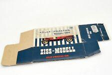 ZISS MODELL BOITE VIDE POUR ADLER LIMOUSINE PHAETON 1906 #39 ONLY BOX