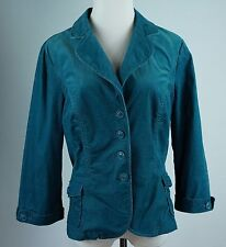 Halogen Size Large Pinwale Corduroy Jacket Blazer Blue Stretch Cotton