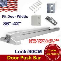 Door Push Bar Panic Exit Device 36-42 inch Heavy Duty Hardware Latch Emergency