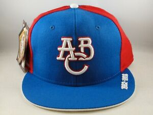 Atlanta Black Crackers Negro League Headgear Fitted Hat Cap Size 7 1/2 Royal Red