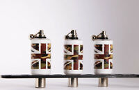 3 x Custom Tackle  Bobbins Head swinger hanger bite indicator Camo Union Jack
