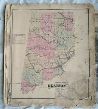 Dearborn County Indiana Atlas - 1875 - Lawrenceburg Aurora - Maps Illustrations