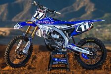 YAMAHA YZF450 YZ450F 2014 - 2017 '51FIFTY' Graphics Fitted to Plastics Kit Combo