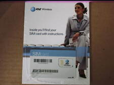 At&T Sim Card,(Subscriber Identity Module,Info, Storage For Txt,Address,Tracking