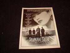 SHANGHAI TRIAD 1995 Oscar ad Gong Li, Li Baotian & RESTORATION Robert Downey Jr.