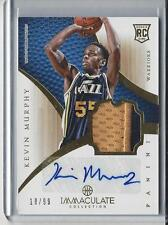 KEVIN MURPHY 2012-13 IMMACULATE RPA 2 COLOR JAZZ PATCH ON CARD AUTO RC #D 18/99