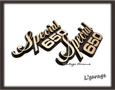 [LG] YAMAHA XS650 XS 650 SPECIAL SIDE COVER EMBLEM BADGE 4M4-21781-00-00 [TW374]