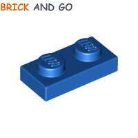 10 x LEGO 3023 Plaque (bleu) Plate 1x2 (bright blue) NEUF NEW