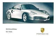 Porsche 996/911 Turbo Mode D 'em Ploi , Manuel D'Instructions, Modèle Année 2002