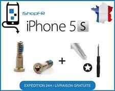 Kit lot de 2 vis du bas Gold/OR pour IPHONE  5S + TOURNEVIS