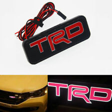 TRD Logo LED Light Car Front Grille Emblem Badge Illuminated Decal Sticker