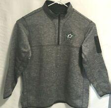 NHL Dallas Stars  Antigua Men Pullover 1/4 Zip Gray 3XL Knit Jersey Fleece Lined
