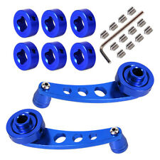 Universal 1 Pair Blue Aluminum Car Manual Door Window Winder Crank Handle