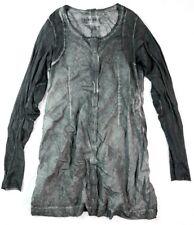 RUNDHOLZ DIP OLIVE GREEN LAGENLOOK LONG SLEEVE DRESS MEDIUM