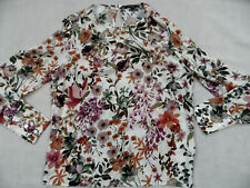 RESERVED schöne Bluse creme Blumenmuster Gr. 42 TOP lis320