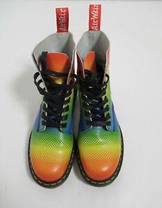 Dr Martens Unisex's  Rainbow Pride 1460 Pascal Boot Multi Size 8 US M / 9 US L