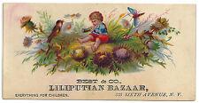 Advertising: Victorian Trade Card. Best & Co. LILIPUTIAN BAZAR. For Children.
