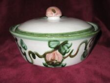 John Taylor Harvest Pear Fruit Louisville Pottery Covered Casserole Dish Signed