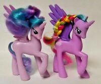 "(2) My Little Pony G4 Princess Cadance Celestia MLP 4"" Figure Brushable Unicorn"