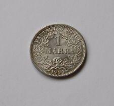 KAISERREICH: 1 Mark 1909 D, J. 17, stempelglanz, SELTEN !!!