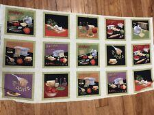 Al Dente Italian Pasta Hot Pad Potholders Cotton Fabric Panel sew - quilt