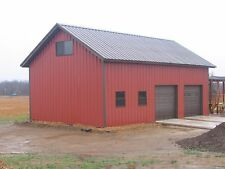 30'x40'x12' Steel Garage/Workshop Building Kit Excel Metal Building Systems Inc