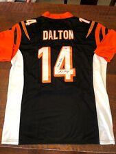 Andy Dalton Signed Cincinnati Bengals Jersey Psa Dna Coa Red Rifle Autographed